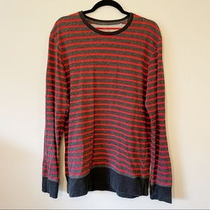 On the Byas Men's Striped Sweater size large